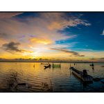 Dawn in Dau Tieng lake